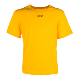 T-SHIRT LOGO BACK YELLOW FRONT